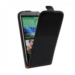 Torbica za HTC One M8 Preklopna Črna barva+Folija ekrana