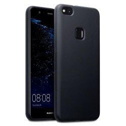 "Silikonski etui ""Slim"" 0,5mm, Črna barva-Huawei P10 Lite"