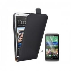 Preklopna Torbica za HTC Desire 816 + zaščitna folija ekrana Črna barva