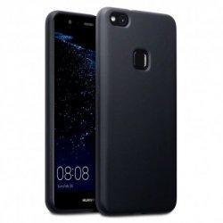 """Silikonski etui """"Slim"""" za Huawei P10 Lite 0,5mm, Črna barva +zaščitna folija"""