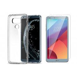 Silikonski etui, prozoren+ zaščitno steklo - LG G6