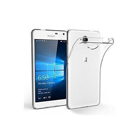 Silikonski etui za Microsoft Lumia 650, 0,3mm, Prozorna barva +folija zaslona