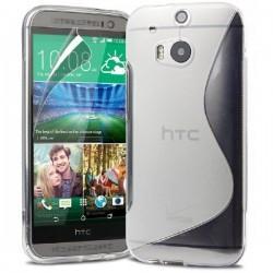 Silikon etui za HTC One M8 +Folija ekrana , Transparent barva