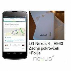 Etui Jekod za LG Nexus 4 +folija zaslona, bela barva