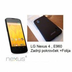 Etui Jekod za LG Nexus 4 +folija zaslona, črna barva