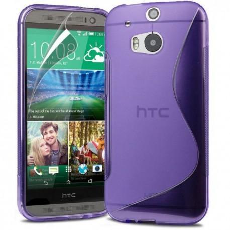 Silikon etui za HTC One M8 +Folija ekrana , Vijola barva