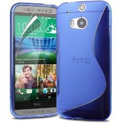 Silikon etui za HTC One M8 +Folija ekrana , Modra barva