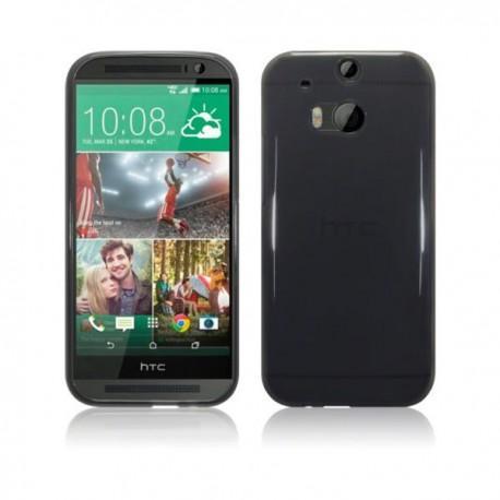 Silikon etui za HTC One M8 +Folija ekrana Prozorno temna barva