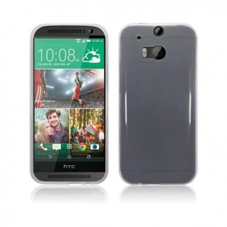 Silikon etui za HTC One M8 +Folija ekrana Prozorno bela barva