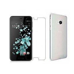 Silikonski etui, prozoren+ zaščitno steklo - HTC U Play