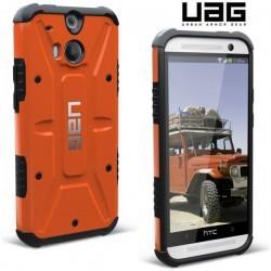 Etui za HTC One M8 Urban Armor Gear+Folija ekrana, Rust-Black