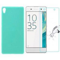 Silikonski etui, mint barva+ zaščitno steklo za Sony Xperia XA