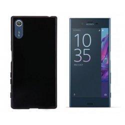 Silikonski etui, črna barva+ zaščitno steklo za Sony Xperia XZ