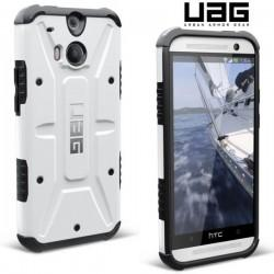 Etui za HTC One M8 Urban Armor Gear+Folija ekrana, White-Black