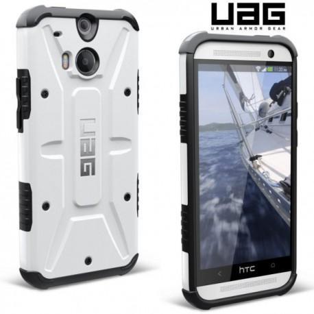 Etui za HTC One M8 Urban Armor Gear+Folija ekrana, White-Black