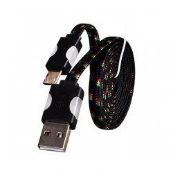 Micro USB kabel z LED osvetlitvijo, črna barva