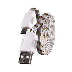 Micro USB kabel z LED osvetlitvijo, bela barva