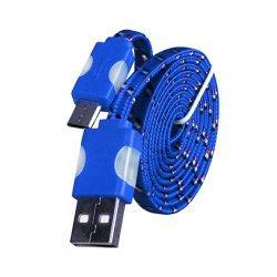 Micro USB kabel z LED osvetlitvijo, modra barva
