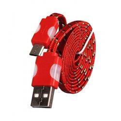 Micro USB kabel z LED osvetlitvijo, rdeča barva