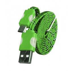 Micro USB kabel z LED osvetlitvijo, zelena barva