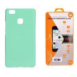 Silikonski etui, mint barva+ zaščitno steklo - Huawei P10 Lite