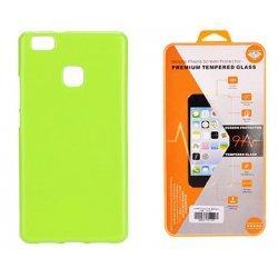 Silikonski etui, zelena barva+ zaščitno steklo - Huawei P10 Lite