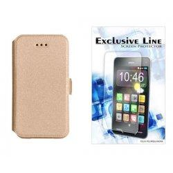 "Etui ""Slim"" za Samsung Galaxy Xcover 4, Zlata barva +zaščitna folija"