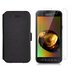 "Etui ""Slim"" + zaščitno steklo za Samsung Galaxy Xcover 4, Črna barva"