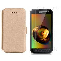 "Etui ""Slim"" + zaščitno steklo za Samsung Galaxy Xcover 4, Zlata barva"