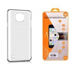 Silikonski etui, prozoren+ zaščitno steklo za LG X Cam