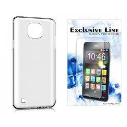 Silikonski etui, prozoren +zaščitna folija zaslona za LG X Cam