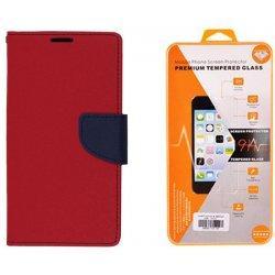 """Etui """"Fancy"""" + zaščitno steklo za Samsung Galaxy Xcover 4, Rdeča barva"""