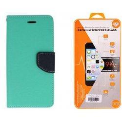 "Etui ""Fancy"" + zaščitno steklo za Samsung Galaxy Xcover 4, Mint barva"