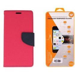 """Etui """"Fancy"""" + zaščitno steklo za Samsung Galaxy Xcover 4, Pink barva"""