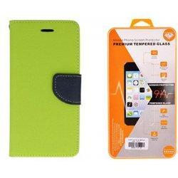 """Etui """"Fancy"""" + zaščitno steklo za Samsung Galaxy Xcover 4, Zelena barva"""