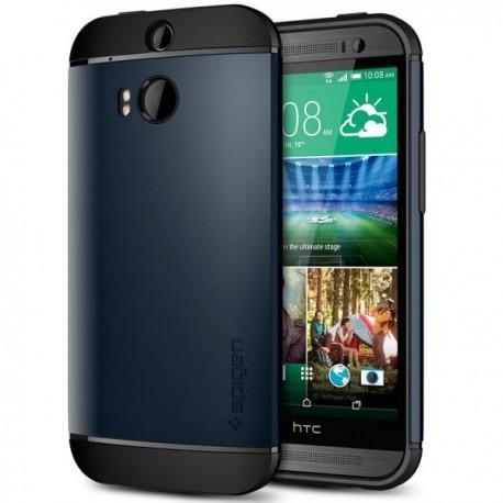 Etui za HTC One M8 Slim Armor zadnji pokrovček anti-shock Spigen Metal Slate