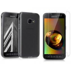 Silikonski etui, prozoren+ zaščitno steklo za Samsung Galaxy Xcover 4
