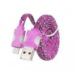 Micro USB kabel z LED osvetlitvijo, Pink barva
